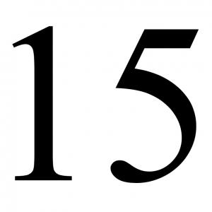 Rittenkaart – 15 ritten